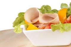 Mixed salad with roast turkey Stock Photos