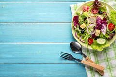 Mixed salad on table Royalty Free Stock Image