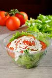 Mixed Salad in takeaway container Royalty Free Stock Photo