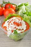 Mixed Salad in takeaway container Stock Photos