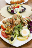 Mixed salad with turkey meat Royalty Free Stock Photo