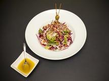 Mixed salad with walnuts Royalty Free Stock Photos