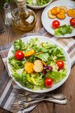 Mixed salad with croutons. Stock Photo