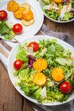 Mixed salad with croutons. Royalty Free Stock Photo