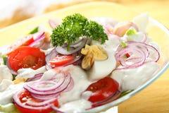 Mixed Salad With Mayonnaise Stock Image