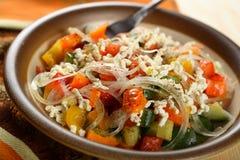 Mixed Salad With Rice Royalty Free Stock Photos