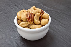Mixed Salted Nuts Stock Image