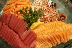 Mixed Sashimi Royalty Free Stock Images