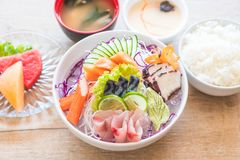 Mixed sashimi set Stock Image