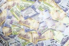 Mixed Saudi riyal Notes Stock Image