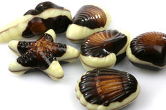 Mixed seafood chocolate Royalty Free Stock Photo