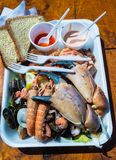 Mixed seafood plate Stock Photography