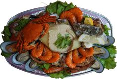 Mixed seafood platter Royalty Free Stock Photos