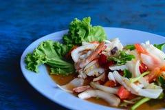 Mixed seafood salad Stock Photography