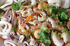 Mixed seafood salad. Stock Image