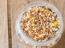 Mixed seed in jar. Stock Images