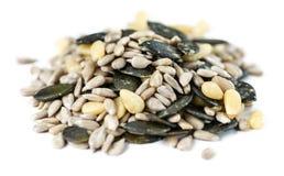 Mixed Seeds isolated on white stock photo