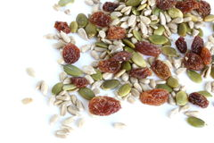 Mixed Seeds and Sultanas Stock Photos