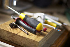 A Mixed Selection of Electricians Tools Stock Photography