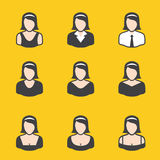 Mixed set of avatar for women. It can be used for a website, mobile application, presentation, corporate identity design, wherever you decide that you need is Royalty Free Stock Images