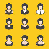 Mixed set of avatar for women. It can be used for a website, mobile application, presentation, corporate identity design, wherever you decide that you need is stock illustration