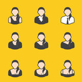 Mixed set of avatar for women. It can be used for a website, mobile application, presentation, corporate identity design, wherever you decide that you need is Stock Images