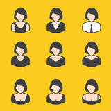 Mixed set of avatar for women. It can be used for a website, mobile application, presentation, corporate identity design, wherever you decide that you need is Royalty Free Stock Photo