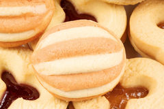 Mixed shortcrust pastry biscuits Stock Image