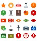 Mixed sign symbol flat icon logo or illustration royalty free illustration