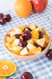 mixed sliced fruit Royalty Free Stock Images