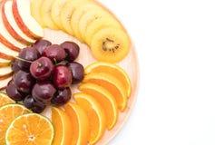 mixed sliced fruit Stock Image