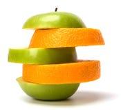 Mixed sliced fruits Stock Image