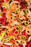 Mixed sliced pepper Royalty Free Stock Images
