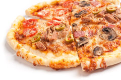 Mixed Slices of Pizza royalty free stock image