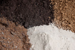 Mixed soil Stock Images
