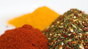 Mixed spices. Variety of spices royalty free stock images