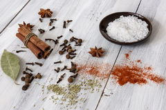 Mixed spices Stock Images