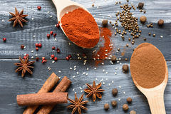 Mixed spices Stock Photography