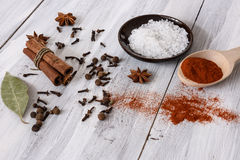 Mixed spices Royalty Free Stock Image