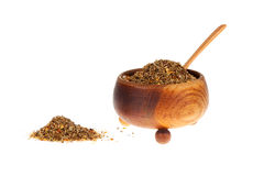 Mixed spices in wooden bowl Royalty Free Stock Photo