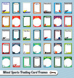Mixed Sports Trading Card Picture Frames Stock Image
