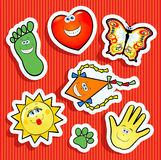 Mixed Stickers Stock Photos