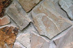 Mixed Stone Wall. Various stones sizes cemented in a wall Royalty Free Stock Photos