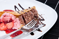 Mixed Strawberry and Chocolate Ice Cream Royalty Free Stock Photo