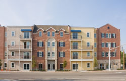 Mixed style apartments Stock Photography