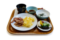 Mixed style breakfast. Stock Photos