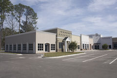 Mixed style strip mall Stock Photo