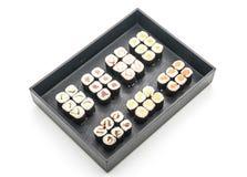 mixed sushi maki - japanese food style Royalty Free Stock Images