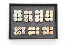 mixed sushi maki - japanese food style Stock Image