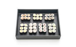 mixed sushi maki - japanese food style Royalty Free Stock Photo